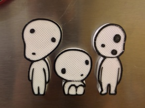 Kodama Spirit Magnets (Princess Mononoke)