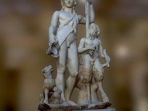 Dionysos and Pan and a panther