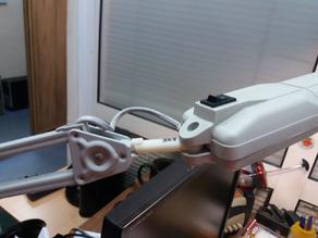 Desktop lamp holder bone