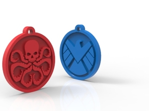 hydra & S.H.I.E.L.D. two side keychain