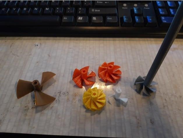 Model Boat Propeller Designer - for 3D printing by 3d-reid