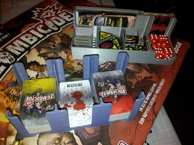 Zombicide Card Holder And Tray Box By Djihatch Thingiverse