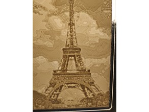 Eiffel Tower Lithophane - Flat/Curved for XY/ZX planes printing