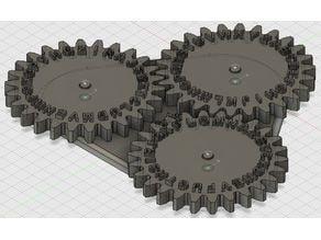 Zahnrad Enigma für BrainBox oder Escape-Room