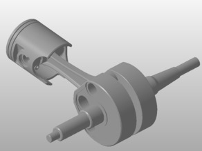 Crankshaft and piston Yamaha DTR 125
