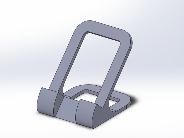 Cell Phone Desk Stand by Athens3Ddesign Thingiverse