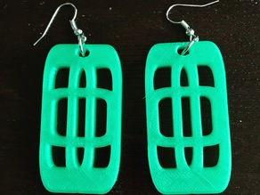 Rounded Square Earrings