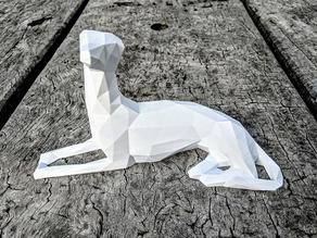 Low Poly Whippet