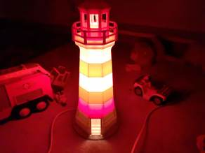 Brier Island Lighthouse Lamp / Lightbulb Mount
