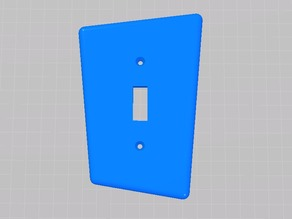 Toon Light Switch Plate