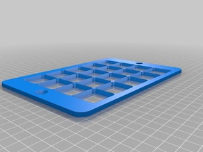 My Customized , 3D Printable Keyguard for Grid-based, Free-form, and Hybrid AAC Apps on Tablets