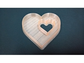 Hollow Double Heart Cookie Cutter