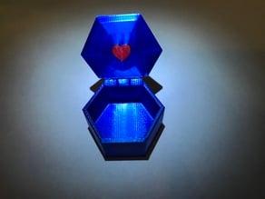 Hexagonal Secret Heart Box