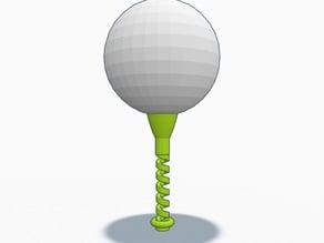 Springy Golf Tee