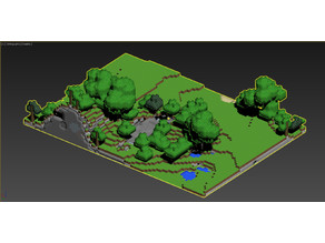 Minecraft diorama setting