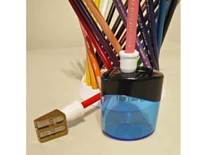 Short-Point Colouring Pencil/Pencil-Crayon Sharpener Adapter