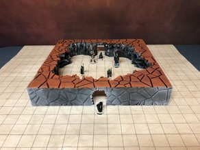 Modular Caverns: the Big Cavern (28mm Terrain)