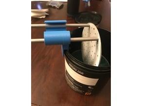 Resin build plate holder