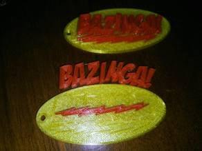 Bazinga Keychain - The Big Bang Theory
