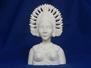 Jean Gordon's carvings Woman in Headdress