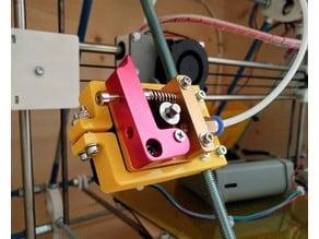 Extruder motor bracket for threaded rods