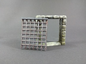 Portcullis doors for Descent: Journeys in the Dark 2ed boardgame