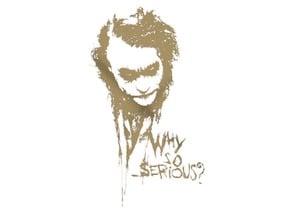 Joker Wall Sculpture - Why so serious