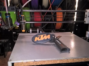 KTM oval keychain tricolor