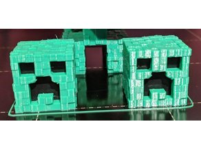 Textured Creeper head with colored face