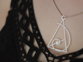 Necklace Fibonacci & Gold Triangle