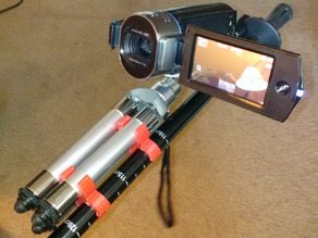 Hiking pole camera tripod clip
