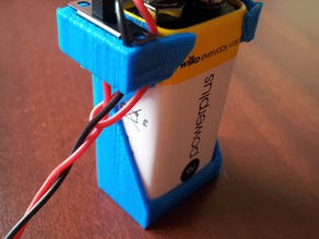 9v battery clip with switch hole