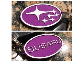 Subaru Keychain - Constellation and Name