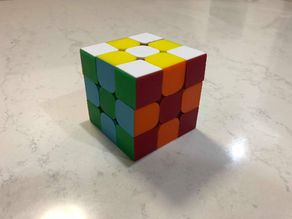 Stickerless 3x3 Rubik's  Cube