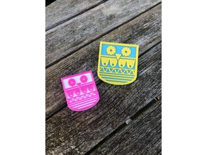 Quirky owl brooch / badge