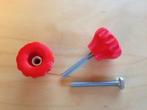 Knobs for 1/4, 5/16 or 3/8 nuts or bolts
