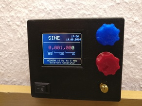 Graphical Waveform / Signal Generator Case w/ Arduino Pro Mini & AD9833 (Sine, Square and Triangle)