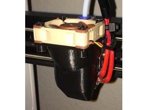 Noctua Fan mod long version: MP Mini Select 3D PLA & PETG 40mm Fan Shroud