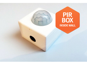 PIR HC-SR501 Inside wall box enclousure case