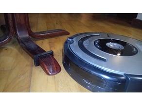 Roomba vacuum robot square chair leg stopper