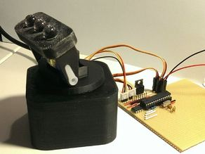 Mini LED Moving Head - pan-tilt with 9g servos