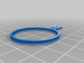 Finger Gauge Baguier metric diameter from 14mm to 32mm