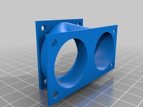 dual 30mm to single 40mm fan adapter