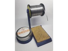 Holder for solder and flux