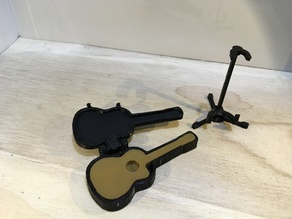Acoustic Guitar and Case (1:18 scale)