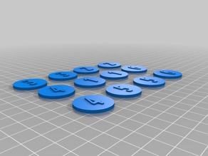 25mm numbered round shields