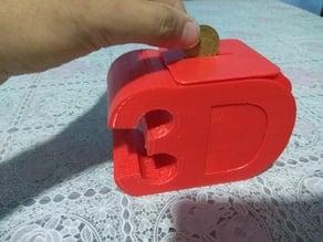 piggy bank 3d letters / alcancia con con letras 3 y d