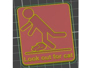 Look out for cat sign