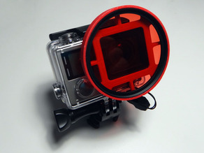 GoPro red lens mount for diving