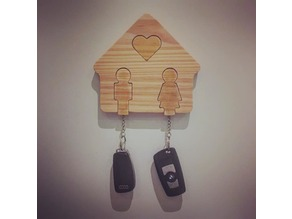 House of love Keychain [CNC or 3D]
